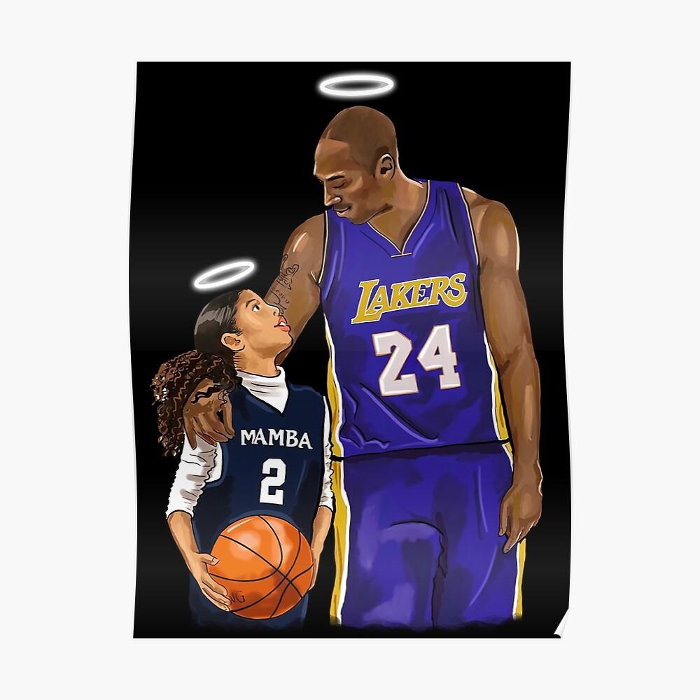 Rip Kobe Bryant And Gigi Bryant - Poster - Canvas Print ...